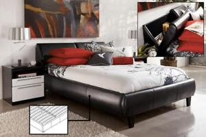 Black Bed with bed drawers (IF277)