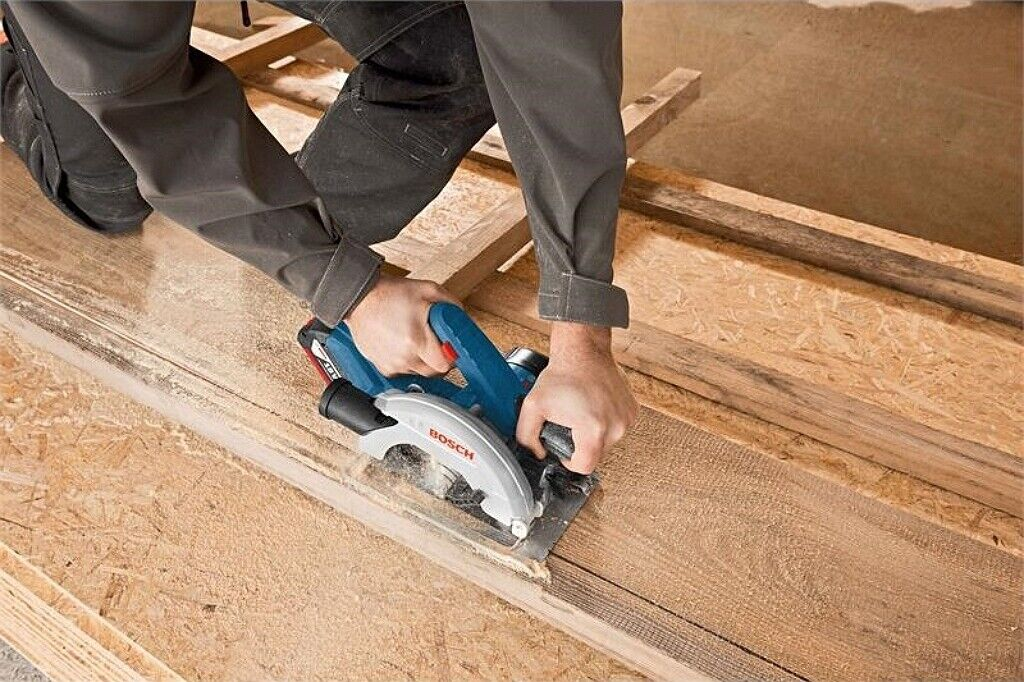 Bosch GKS 18V-57 Professional Cordless Circular Saw Dustless Bare Tool