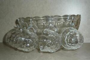 Old Style Glass Punch Bowl