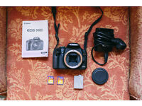 Canon 500D - Body in excellent condition, 2 x 8GB SD cards, battery, charger, manual, camera bag