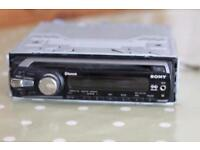Sony car stereo CD player with aux