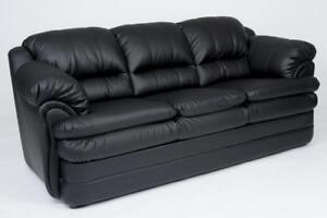 CHEAP BLACK COUCH - AND GET RED WALLS IN LIVING ROOM LOOKS GOOD WITH OUR BLACK COUCHES FOR SALE (BD-1284)