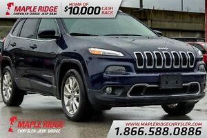 2015 Jeep Cherokee Limited w/Nav, Leather & Back Up Camera