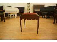 Small mahogany antique piano stool