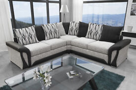 **LIMITED EDITION** Exclusive Shannon Black/White Corner Sofa **FREE UK DELIVERY**