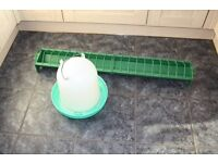 Large Seed hopper and 8L drinker in good condition pigeons chickens