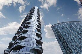 BRAND NEW 33RD FLOOR STUDIO - VACANT - Providence Tower E14 - CANARY WHARF DOCKLANDS BLACKWALL WAY