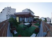 Rooftop Modern 1 bed flat in central Athens with Panoramic views from £35 per night