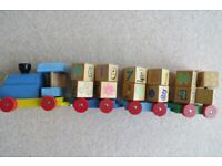 Wooden Toy Train Push/Pull Along