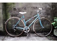 PEUGEOT MONACO, 19 inch, 48.5 cm, vintage ladies womens dutch style mixte frame road bike, 5 speed