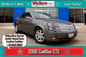 2006 Cadillac CTS LOW KM/SUNROOF/HEATED LEATHER SEATS