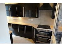 2012 MAGNET GLOSS BLACK KITCHEN AND APPLIANCES COST 8K ( CABINETS, WORKTOPS, SINK )