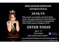 Enter Miss Junior Bispham International Beauty Pageant