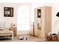 oak wardrobe full set including assembly service