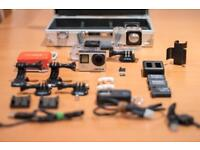 Gopro Hero 4 Black 4k in great conditions with full kit (diving & polar lens, 3x battery, 2x houses)