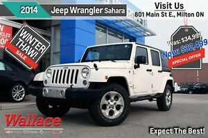 2014 Jeep Wrangler Unlimited Sahara/VERY LOW KMS!/TOW PACK/NAV