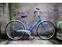 REAL BREEZE, 17 inch, ladies womes hybrid road city bike, 4 automatic or manual speed