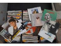 Approx. 700 vinyls for sale- mainly 45s, 100 LPs