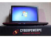 "CyberPowerPC Gaming Laptop: i7-4810MQ, GTX 860M, Backlit Keypad, BluRay-Burner, 15.6"" 1080P, 1TB"