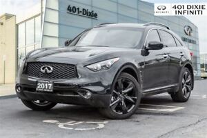 2017 Infiniti QX70 Sport Package! Heated/Cooled Seats, 21 Rims!