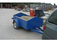 Trailer with heavy duty axle braked up box