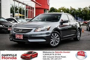 2012 Honda Accord Sdn EX-L at w Navi 1-Owner|Clean Carproof|Sunr