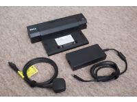 Dell PR02X E-Port Port Replicator Docking Station with AC Power Adaptor