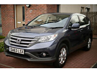 2014 HONDA CR-V SE I-DTEC 4X2 BLUE 1 careful owner, from pet free and smoke free home