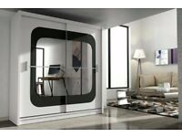 Stylish New Design Chelsea 2 Door Mirror Sliding Bedroom Wardrobe Same\next day Delivery