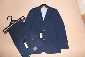 Boys Marks and Spencer's blue linen suit 6-7yrs - BRAND NEW - with tags