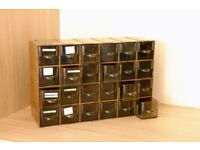 Storage drawers for slides