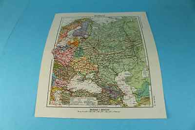 Landkarte aus Westermanns Monatsheft - Atlas -Karte Nr.14-Rußland - um 1920 /S44