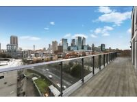 Modern 2 bed 1 bath apartment in Limehouse with massive balcony and 24 hour concierge!