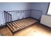Ikea meldal black single day bed