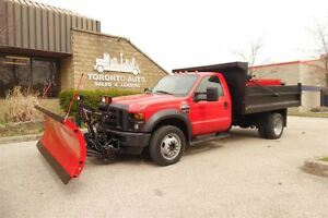 2008 Ford F-450 ( YES ORIGINAL ) Only 57707km,Dump body,4X4,plow