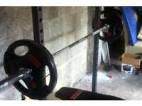 Weights bench exercise equipment