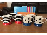 Brand new in Box 6 Hand painted Whittards Espresso Cups