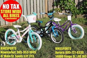 "BIKESPORTS - NO TAX! BRAND NEW! Electra, Specialized and Giant Kid Bikes! 12"", 16"", 20"", 24"""