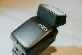 Canon Speedlite 270EX II & diffuser.
