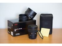 Sigma 85mm 1.4 EX DG HSM Lens Canon EF Fit with HD Hoya Lens Protector - FREE SHIPPING
