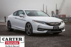 2016 Honda Accord Touring + NAVI + LOW KMS + COUPE + CERTIFIED!