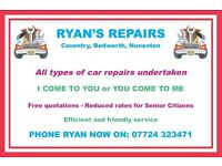 CAR SERVICING and REPAIR COVENTRY/BEDWORTH/NUNEATON