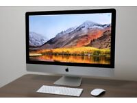 """Apple 27"""" 5K iMac A1419, Quad Core 6th Gen i5, 8GB RAM, 1TB HDD"""