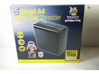 NEW TEXET A4 PAPER ELECTRIC SHREDDER STRIP CUT SHREDDING DOCUMENT 10L BIN SC10N
