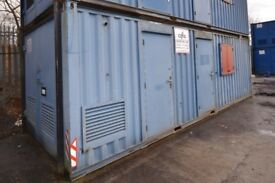 26ft x 10ft Steel Welfare Unit c/w Toilet, Canteen, Drying Area, Office & Generator Housing.