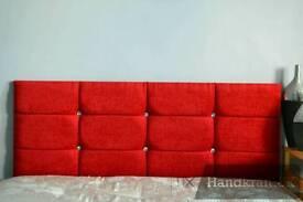 Christmas red chenille headboard