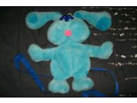 BLUES CLUES CHILDRENS TV SHOW BLUE DOG BACK PACK VERY FUR CUTE