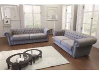 MADETO ORDER **3+2 chesterfield sofa sets, can be purchased as separates or as a sofa bed**