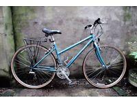 RIDGEBACK ADVENTURE, 17 inch, ladies womens hybrid road bike, 18 speed, rack included