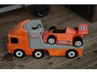 little tikes racing car and lorry